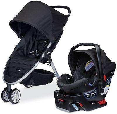 Britax B-AGILE 3 Travel System Stroller w B-SAFE 35 Infant Car Seat 2017 Black