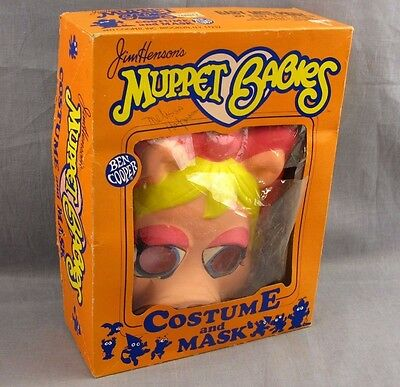 Miss Piggy Muppet Babies Halloween Costume Ben Cooper 6-8 Kids 1985 Original - Miss Piggy Kids Costume