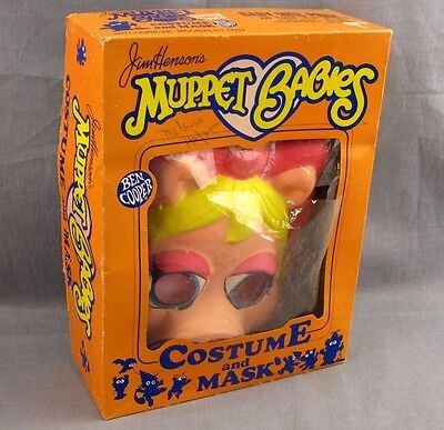 Miss Piggy Muppet Babies Halloween Costume Ben Cooper 6-8 Kids 1985 Original Box](Infant Boxing Halloween Costumes)