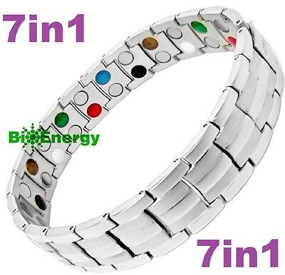 7in1 TITANIUM strong Magnetic Energy Armband Power Bracelet Bio GERMANIUM (Titanium Strong)