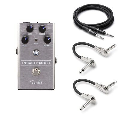New Fender Engager Boost Guitar Pedal FREE Hosa Cables