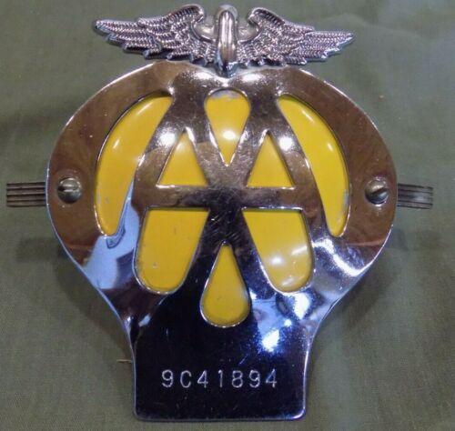 BRITISH AUTOMOTIVE ASSOCIATION AA CAR CLUB BADGE