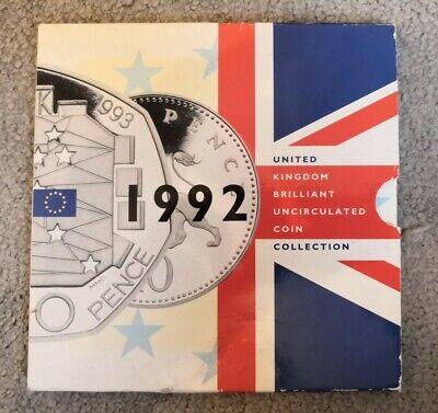 1992/1993 BUNC COIN SET INCLUDES RAREST 50p E.E.C.