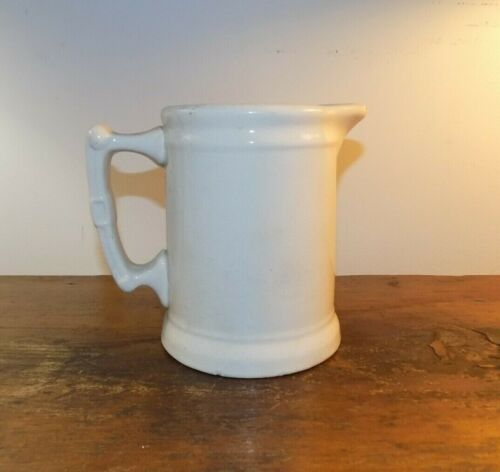 Mellor & Co. White Ironstone pitcher mid 19th c country farm house