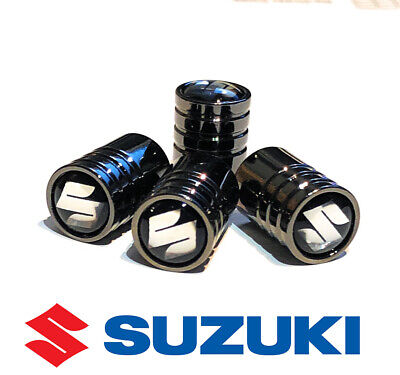 Suzuki Deluxe Black Wheel Valve Dust Caps. Kizashi Escudo Sx4 Wagon-R  Cervo