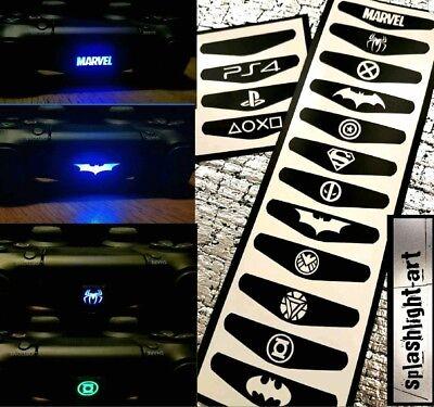 PS4 Controller Light Bar Vinyl Sticker 12x Batman Superman MARVEL MAX PACK (Ps4 Controller Light Bar Superman)