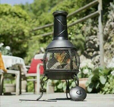 🔥 La Hacienda Leon Mesh Chiminea Fire Pit Patio Heater Free & Fast Delivery 🔥✅