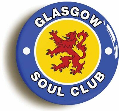 glasgow northern soul club  badge button pin (1inch/25mm diameter) keep faith
