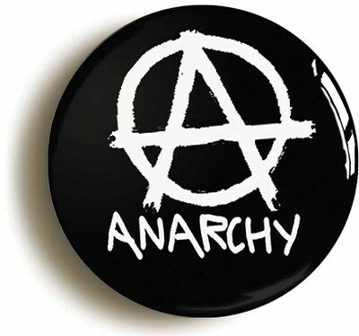 anarchy badge button pin (1inch/25mm diameter) punk rock politics sons of