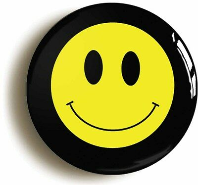 smiley happy acid house retro eighties badge button pin (1inch/25mm) 1980s