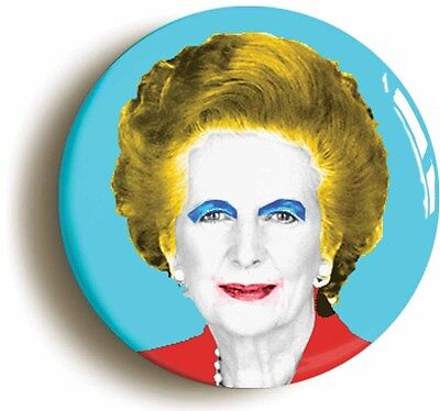warhol margaret thatcher badge button pin (size is 1inch/25mm diameter) pop art
