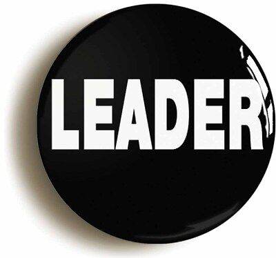 leader badge button pin (size is 1inch/25mm diameter) manager team boss work