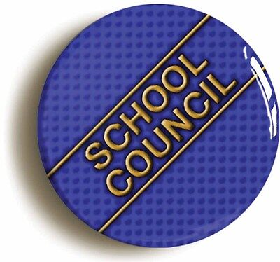school council badge button pin (1inch/25mm diameter) school disco prom geek