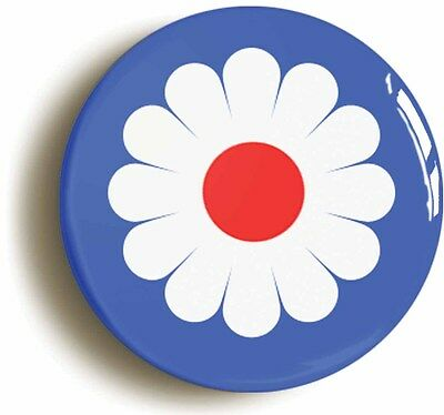 flower target mod badge button pin (size is 1inch/25mm diameter) sixties 1960s