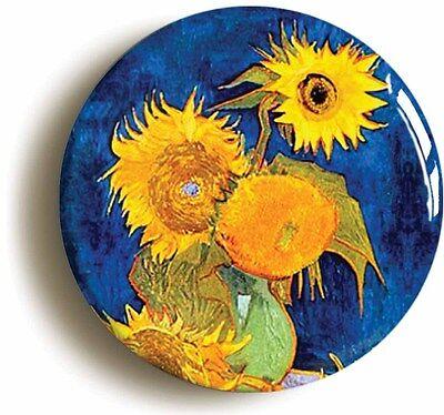 sunflowers vincent van gogh badge button pin (size 1inch/25mm diameter) art