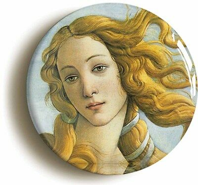 birth of venus sandro botticelli badge button pin - italian renaissance art