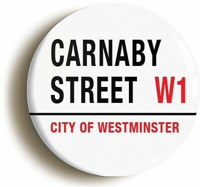 carnaby street retro sixties badge button pin (1inch/25mm diamter) 1960s