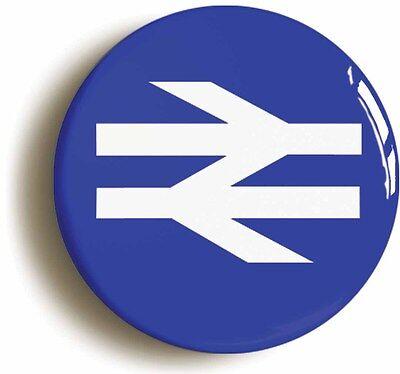british rail badge button pin retro logo (size 1inch/25mm diameter) eighties