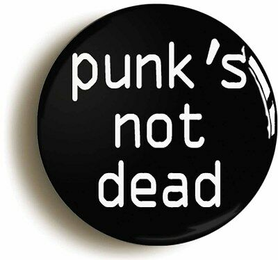 punk's not dead retro badge button pin (1inch/25mm diameter) emo punk rock