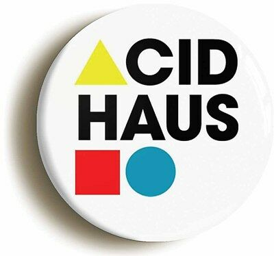acid haus retro eighties badge button pin (1inch/25mm) 1980s acid house rave
