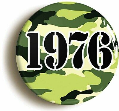 1976 camouflage punk badge button pin (1inch/25mm diameter) retro combat rock