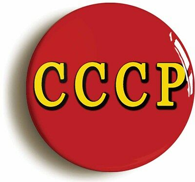 cccp soviet union badge button pin (size is 1inch diameter) communist russia