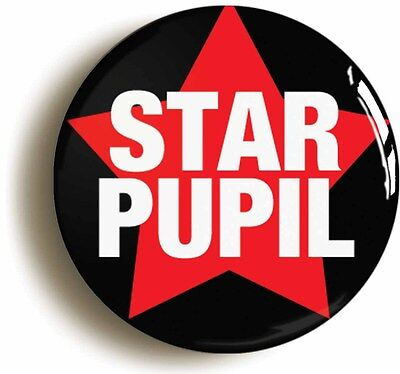 star pupil award badge button pin (1inch/25mm diamtr) school disco fancy dress