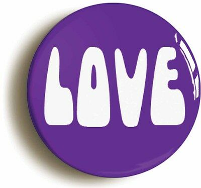 love retro sixties badge button pin (1inch) summer of love psychedelia 1960s