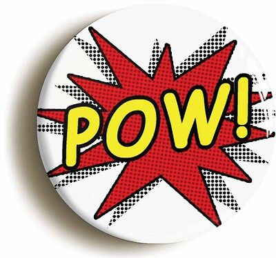 pow! comic pop art badge button pin (1inch/25mm diameter) funny geek chic