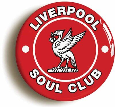 liverpool northern soul club  badge button pin (1inch/25mm diametr) keep faith