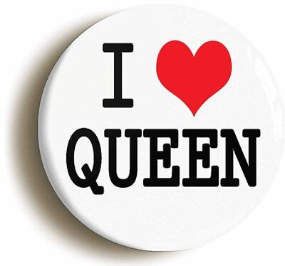 i heart love queen badge button pin (1inch/25mm diameter)
