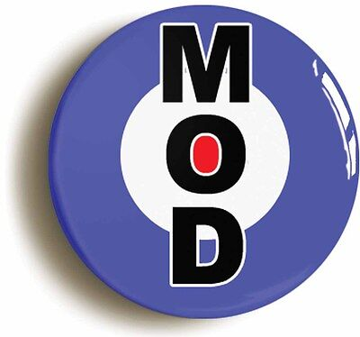 mod badge pin button classic target (1inch/25mm diameter) retro sixties 1960s