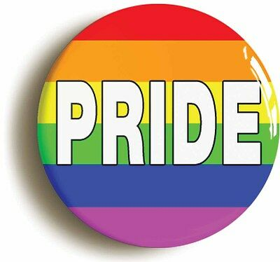 rainbow pride badge button pin (size is 1inch/25mm diameter) lgbt gay diversity
