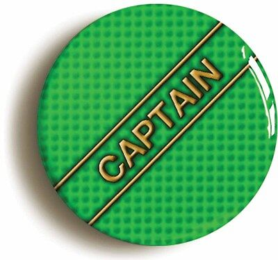 captain badge button pin (1inch/25mm diameter) school sports team
