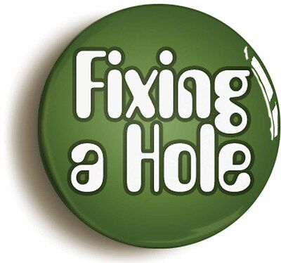 fixing a hole sixties hippie badge button pin (size is 1inch/25mm diameter) lsd