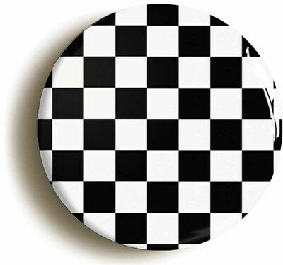 ska check badge button pin (1inch/25mm diameter) 2 two tone