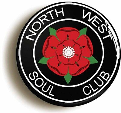 north west northern soul club badge button pin - wigan casino twisted wheel