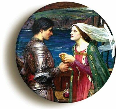 tristan isolde jw waterhouse badge pin button (1inch/25mm) art pre-raphaelite