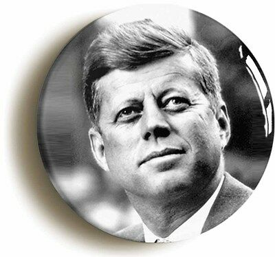 john f kennedy badge button pin (size is 1inch/25mm diameter) jfk retro sixties