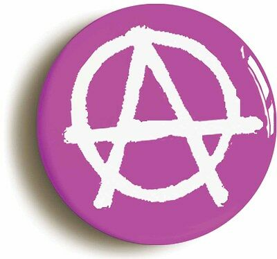 anarchy punk badge button pin pink (size is 1inch/25mm diameter)