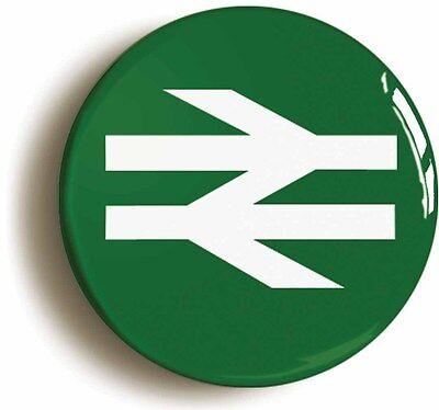 british rail railways retro green logo badge button pin (1inch/25mm diameter)