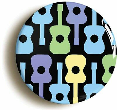 psychedelic guitar pattern sixties badge button pin (1inch/25mm diameter) lsd