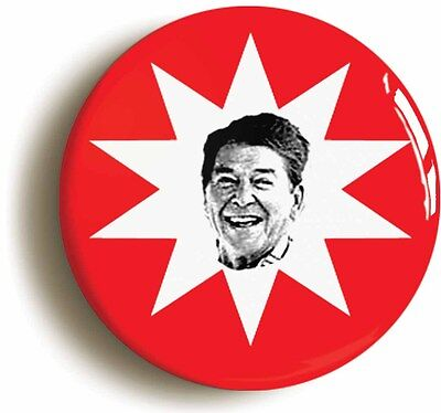 ronald reagan ronnie retro eighties badge button pin (1inch/25mm diamtr) 1980s