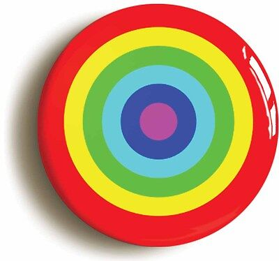 rainbow target badge button pin (size 1inch/25mm diameter) lgbt pride diversity