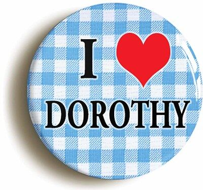 i heart love dorothy the wonderful wizard of oz badge button pin (1inch/25mm)