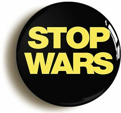 stop wars peace badge button pin (size is 1inch/25mm diameter) sixties hippie