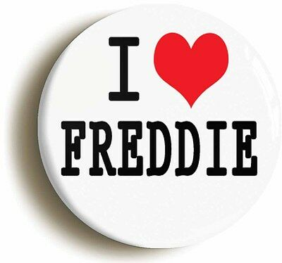 i heart love freddie badge button pin (1inch/25mm diameter)