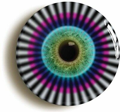 psychedelic eyeball sixties badge button pin (1inch/25mm) hippie lsd 1960s