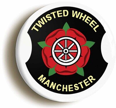 twisted wheel manchester northern soul club badge button pin (1inch/25mm diam)