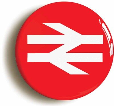 british rail railways retro red logo badge button pin (1inch/25mm diameter)